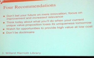 Anderson's recommendations