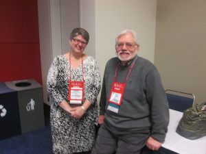 Keri Cascio & Charles Wilt who were greeters at the ALCTS New Members Meeting.