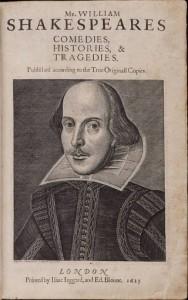 Shakespeare's First Folio via Wikimedia Commons