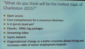 Last Year's Forecast of Hot Topics