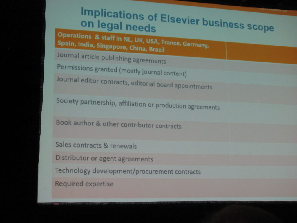 Elsevier's Legal Business