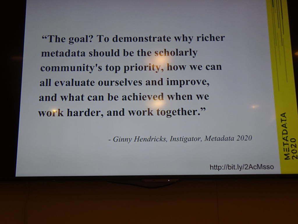 Metadata 2020 Goal