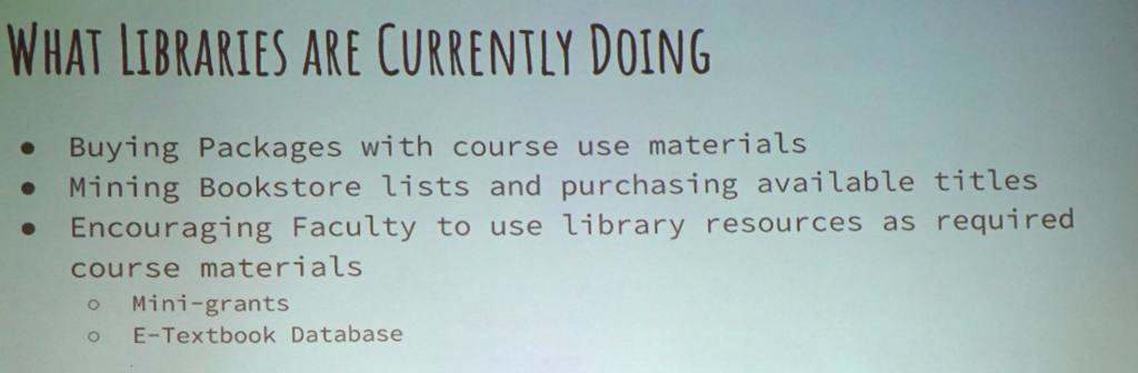 What Libraries are Doing