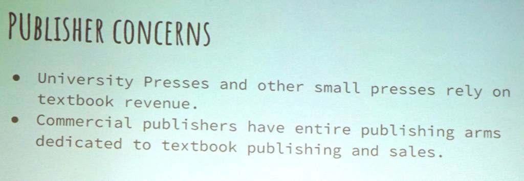 Publisher concerns