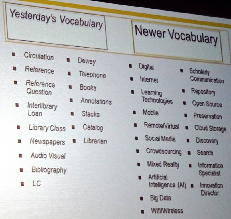 Old and New Vocabularies
