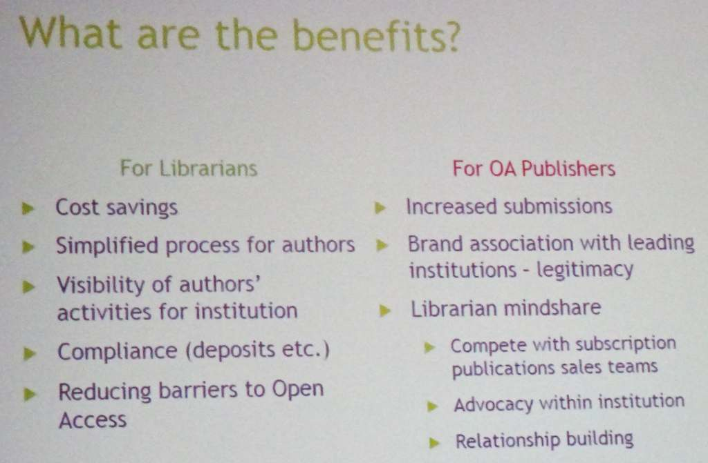 Benefits of OA memberships