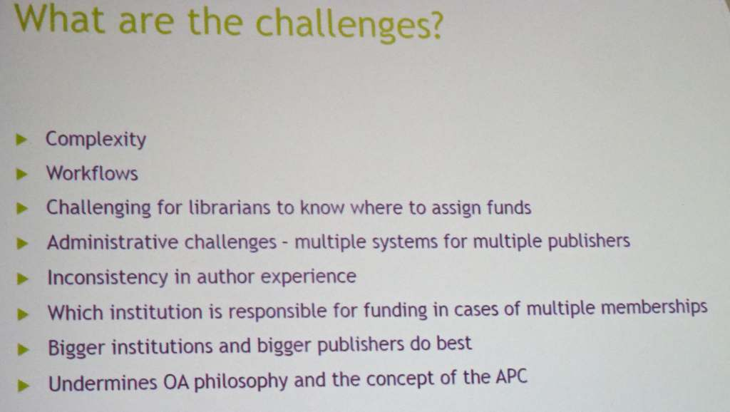 Challenges of OA memberships
