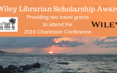 ATG Newsflash: The  Wiley Librarian Scholarship Award to the 2019 Charleston Library Conference is now Available!
