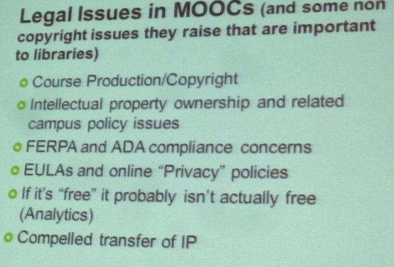 Legal Issues in MOOCs