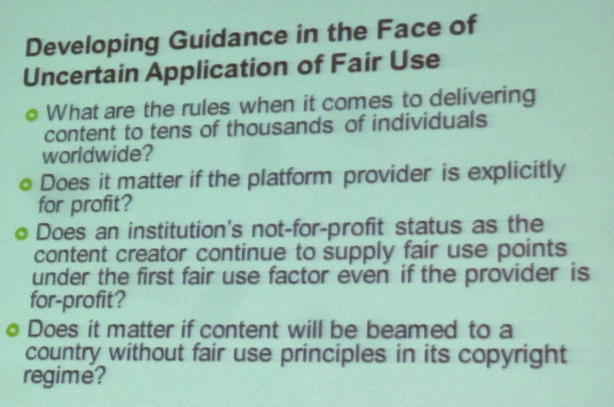 Fair Use and MOOCs