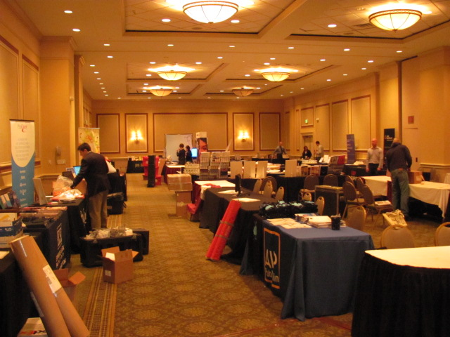 "A ""Before"" view of the Showcase as the Vendors began setting up their exhibits"
