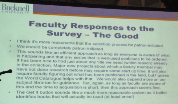 Positive Faculty Responses