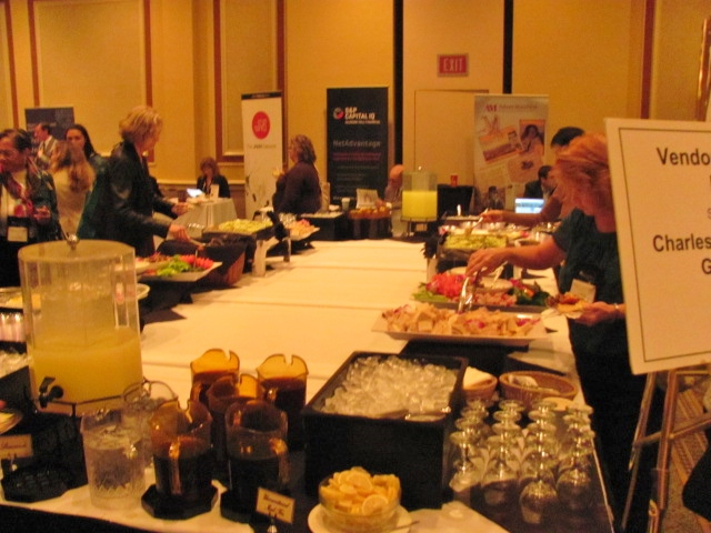 The food station is always popular!