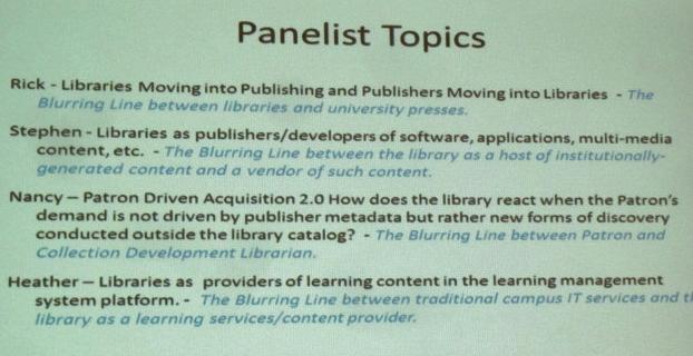 Panelist Topics