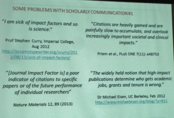 Unfavorable Quotations About Impact Factors
