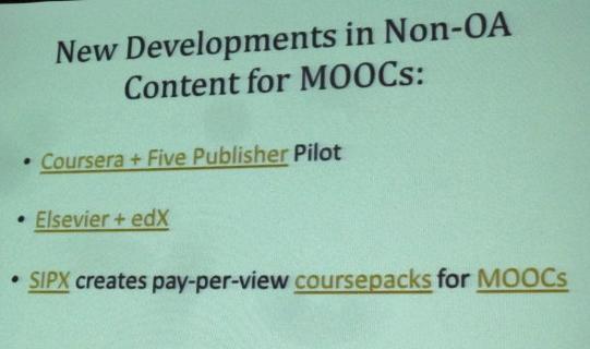 Content for MOOCs