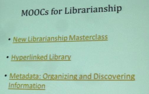 MOOCs for Librarianship