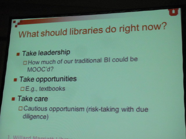 What should libraries do?